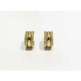 David Yurman 18k Yellow Gold Earrings