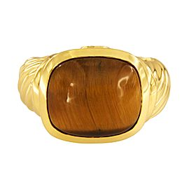 David Yurman Noblesse collection 18k Yellow Gold Tiger's Eye Ring