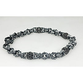 David Yurman Sterling Silver Black Diamond: 2.75ct Bracelet
