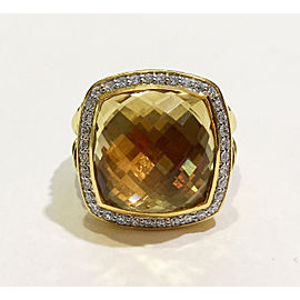 David Yurman The Albion Collection 18k Yellow Gold 0.31ct Champagne Citrine Ring
