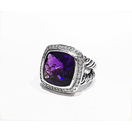 David Yurman The Albion Collection Sterling Silver 0.31ct Amethyst Ring