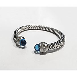 David Yurman The Cable Collection Sterling Silver 0.48ct Blue Topaz Bracelet