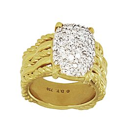 David Yurman Tides Collection 18k Yellow Gold Ring