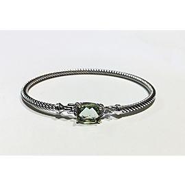 David Yurman Wheaton Collection Sterling Silver Prasiolite, 9x7mm Bracelet