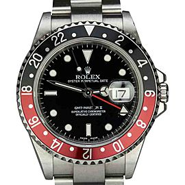 Rolex GMT Master II 16710 T Black and Red Bezel Watch