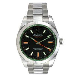 Rolex Green and Black Milgauss Watch