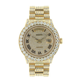 Vintage Rolex 36MM Yellow Gold President with Diamonds