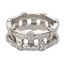 Tiffany & Co. Diamond Woven Double Eternity Bands, in Platinum (2/1 )