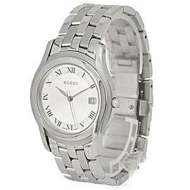 Gucci 5500M Silver Dial Stainless Steel Quartz Men's Watch