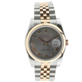 Rolex 36MM Datejust Steel and Rose Gold