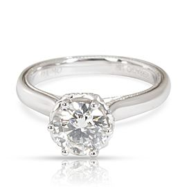 IGI Certified Verragio Diamond Engagement Ring in 18K White Gold I VVS2 1.11