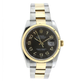 Rolex Brown Dial Datejust 36MM Stainless Steel and Yellow Gold