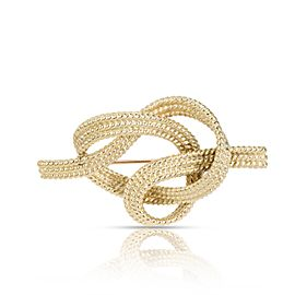 Vintage Tiffany & Co. Rope Knot Brooch in 18K Yellow Gold