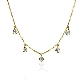 Rock & Divine Solar Eclipse Diamond Necklace in 18K Yellow Gold F VS2 0.90 ctw