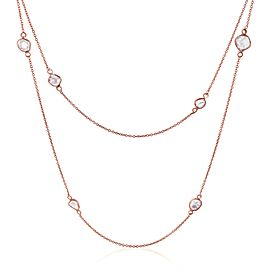 Rock & Divine Dawn Collection Lily Pad Diamond Necklace in 18K Rose Gold 1.6