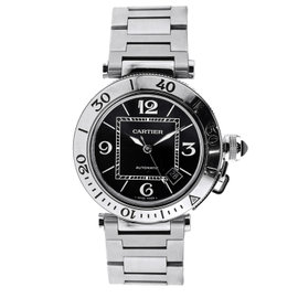 Cartier Pasha Seatimer Stainless Steel Black Dial