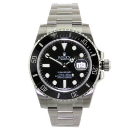 Rolex Submariner with Black Ceramic Bezel
