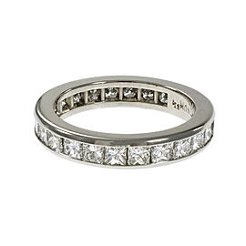 Platinum Princess Cut Diamond Eternity Band Ring Size 6