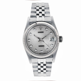 Rolex Datejust Stainless Steel Jubilee with Silver Wave Dial 36mm 116234 sjdj