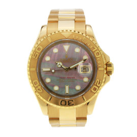 Rolex Yachtmaster Yellow Gold with Mother of Pearl Dial 40mm 16628B