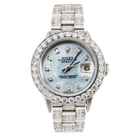 Rolex Datejust Blue Mother of Pearl & Diamonds 25mm