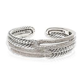 David Yurman Labyrinth Diamond Cuff in Sterling Silver 1.77