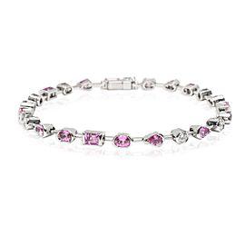 Cartier Meli Melo Pink Sapphire & Diamond Bracelet in 18K White Gold 0.6 CTW
