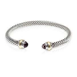 David Yurman Cable Collectibles Amethyst Cuff in 14K Gold/Sterling Silver