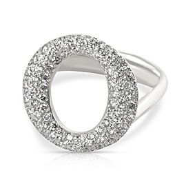 Tiffany & Co. Elsa Peretti Sevillana Diamond Ring in Platinum 0.8