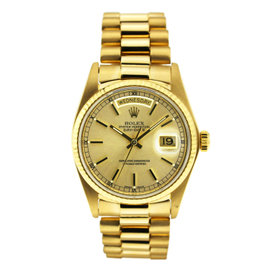 Vintage Rolex Day Date Yellow Gold Index Dial 36mm