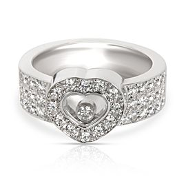 Chopard Happy Diamond Ring in 18K White Gold 1