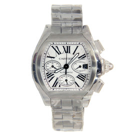 Cartier Roadster XL Stainless Steel Chronograph with Roman Numeral Dial 48mm