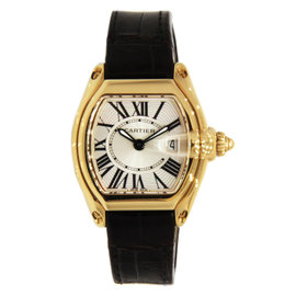 Cartier Roadster for Ladies 18K Yellow Gold with Leather strap 31mm