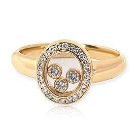 Chopard Happy Oval Diamond Ring in 18K Yellow Gold 0.23
