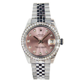 Rolex Datejust Mid-Size Stainless Steel with Diamonds 31mm