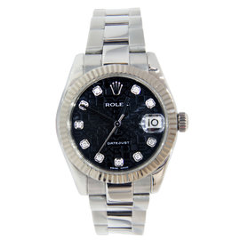 Rolex Datejust Stainless Steel with Black Diamond Dial 31mm