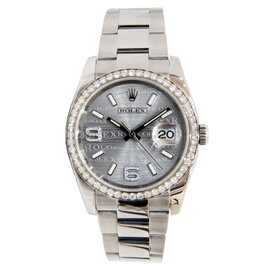 Rolex Datejust Wave Dial Stainless Steel with Diamond Bezel 36mm