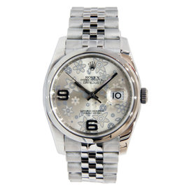 Rolex Datejust Floral Dial Stainless Steel 36mm