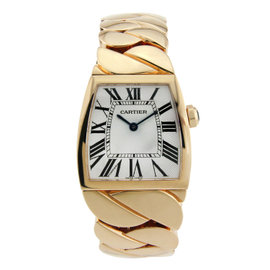 Cartier La Dona 18K Rose Gold with Silver Dial 28mm