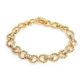 Tiffany & Co Vintage Twisted Rope Infinity Diamond Bracelet in 18KT Gold 2.20ctw