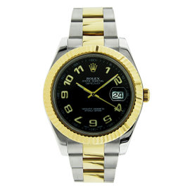 Rolex Datejust II Stainless Steel & Yellow Gold Black Dial 41mm