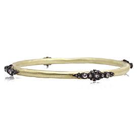 Armenta 18k Yellow Gold; Blackened Sterling Silver Bracelet