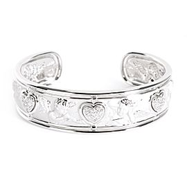 Carrera y Carrera Cherub Cuff with Diamonds in 18K White Gold 0.3