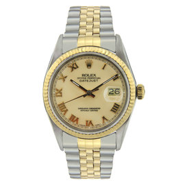 Rolex Datejust Stainless Steel & Yellow Gold with Yellow Gold 36mm