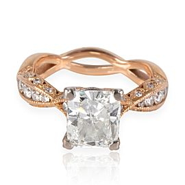 Tacori Diamond Engagement Ring in 18K Rose Gold GIA Certified G SI2 2.37 ctw