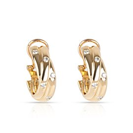 Cartier Constellation Diamond Earrings in 18K Yellow Gold 0.33