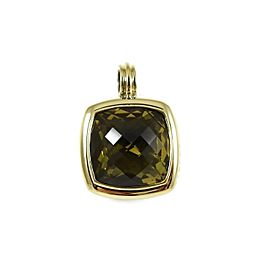 David Yurman Sterling Silver 18K 20mm Lemon Citrine Albion Enhancer