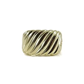 David Yurman 18K Yellow Gold Sculpted Cable Cigar Band Ring