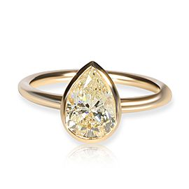 GIA Certified Bezel Set Diamond Solitaire Ring in 14K Yellow Gold L I2 1.52