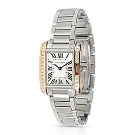 Cartier Tank Anglaise W3TA0002 Women's Watch in 18kt Yellow Gold/Steel